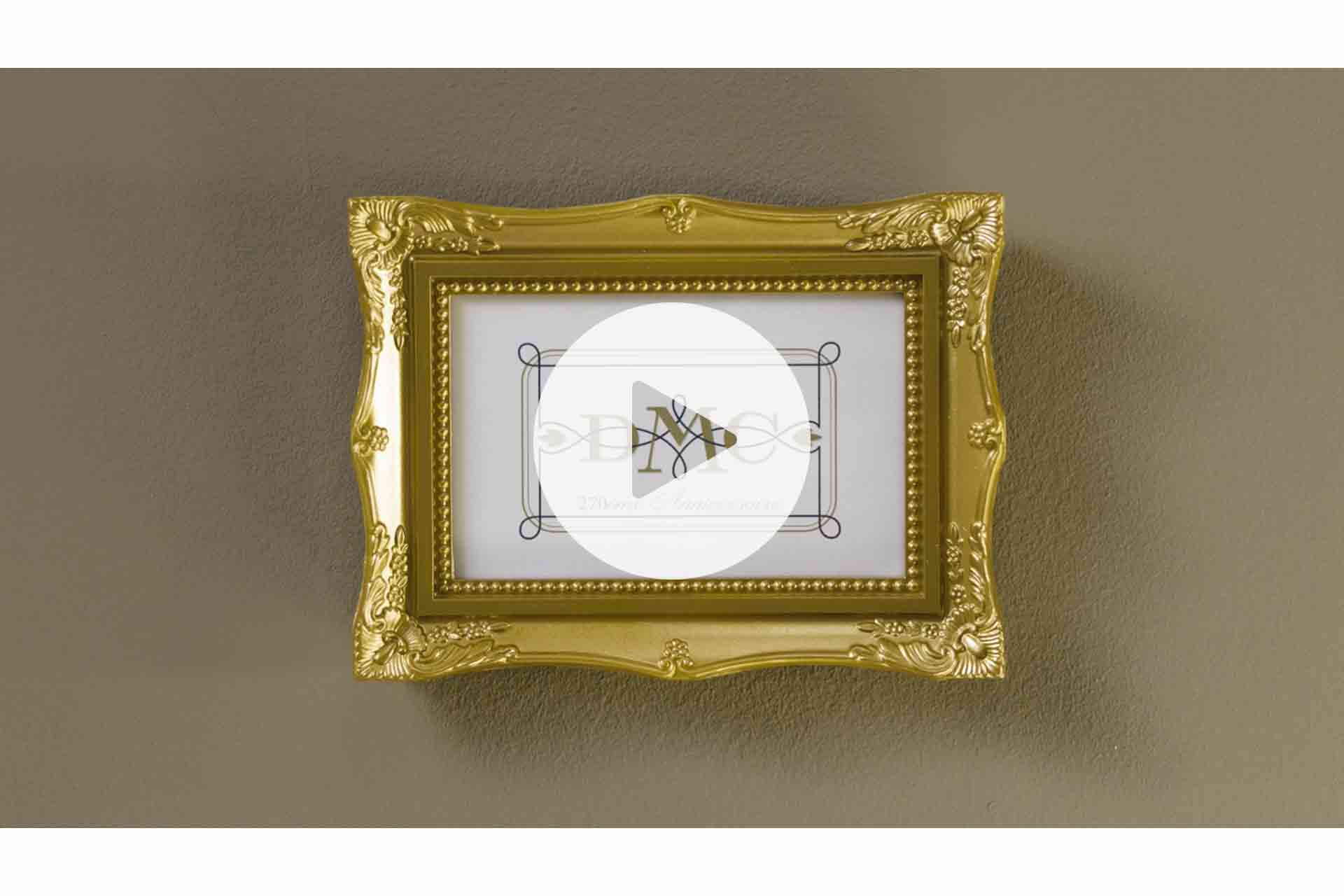 À l'occasion du 270e anniversaire, la marque de fils DMC a lancé une édition spéciale spéciale d'un fil à broder en or.