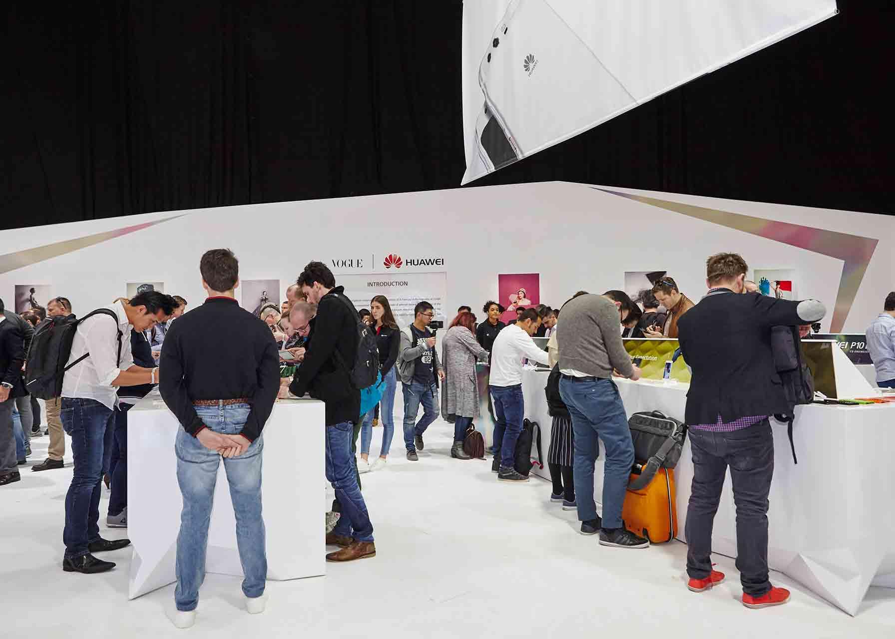 Showroom de Huawei en el MWC de Barcelona