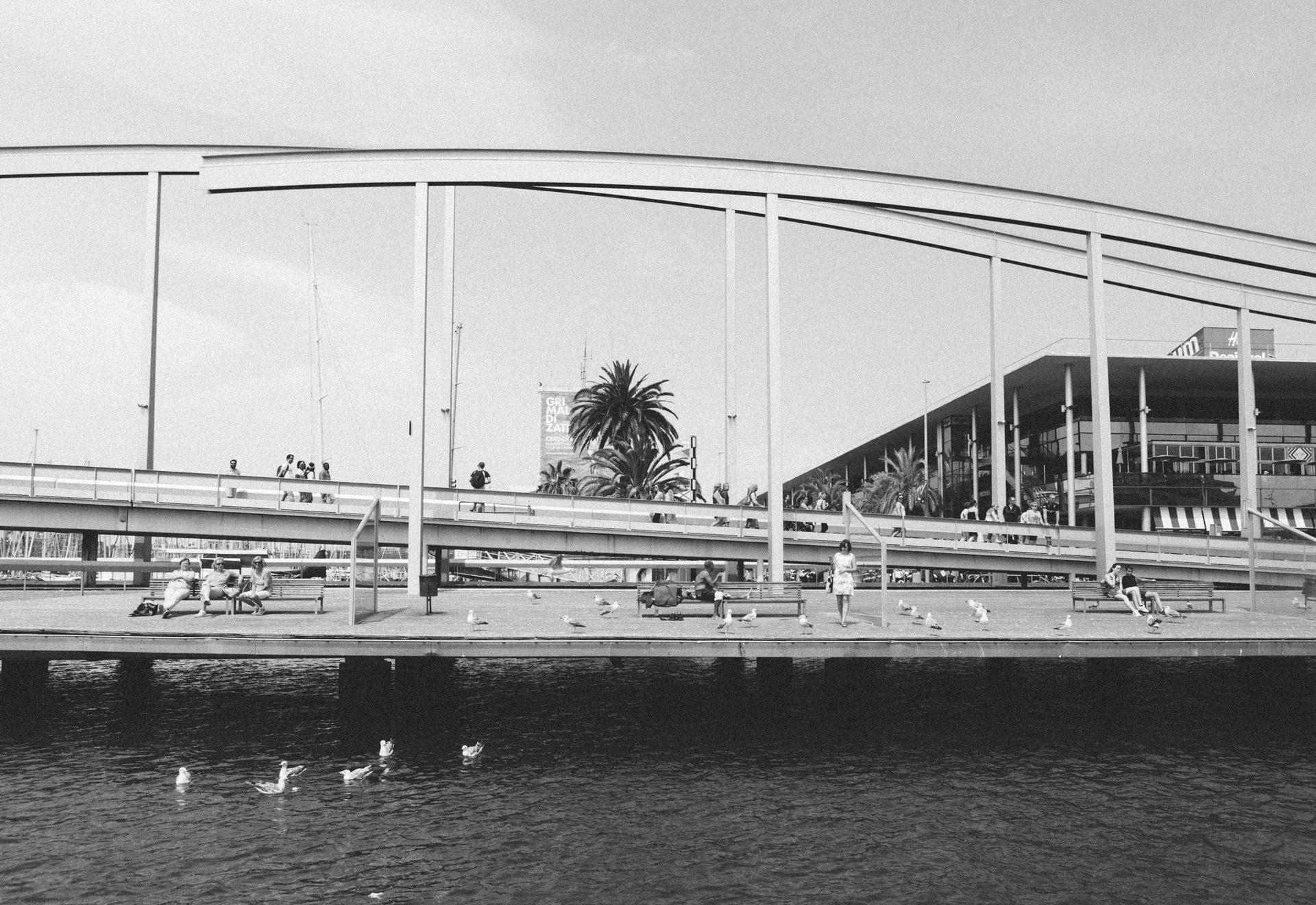Vistas del muelle del Maremagnum en Barcelona realizada durante uno de los eventos del Sunglass Hut Pop Up